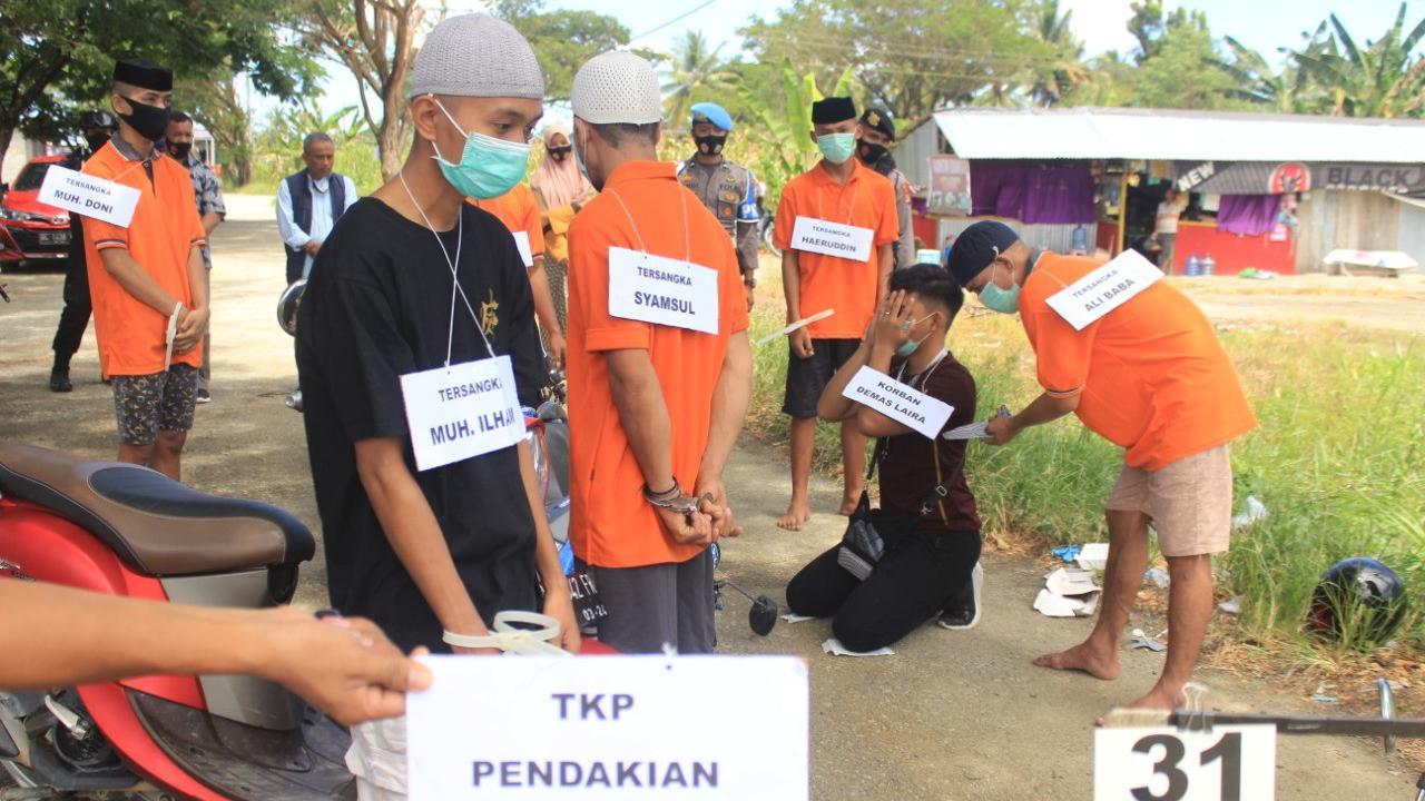 Polisis Gelar Reka Ulang Pembunuhan Jurnalis di Mamuju Tengah