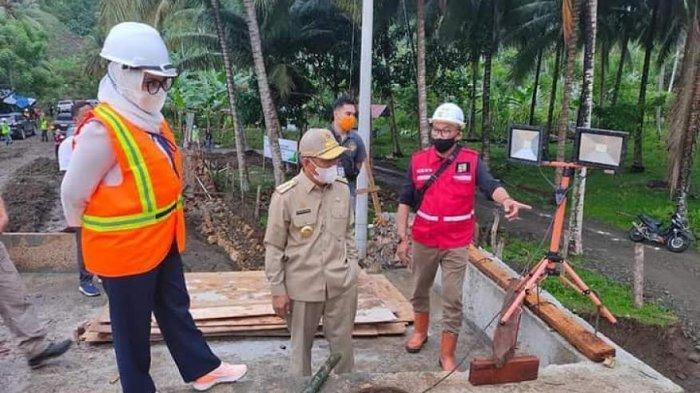 Ketua DPRD Sulbar Dampingi Gubernur Pantau Pangerjaan Ruas Jalan di Mamuju