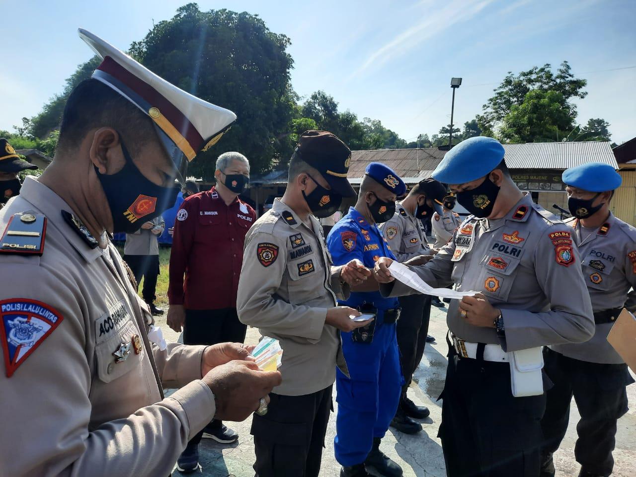 Propam Polda Lakukan Operasi Gaktibplin di Polres Majene