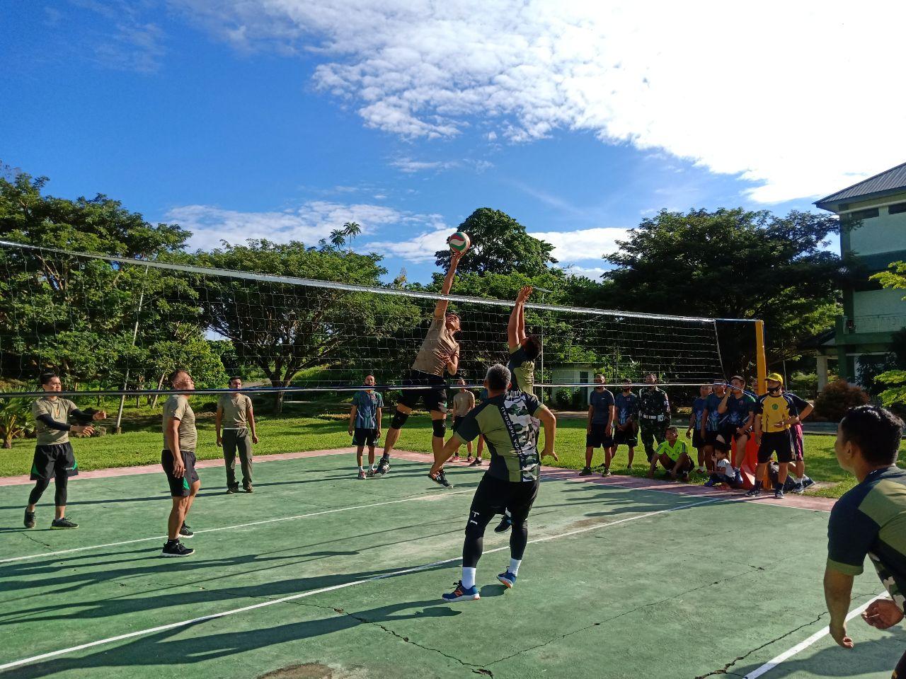Ditunjang Sarana, Prajurit Korem 142/Tatag Aktif Olahraga